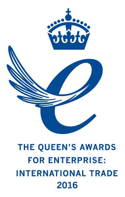 Queens Award for Enterprise International Trade 2016 Emblem