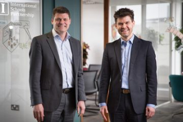 Darren Mee, Group Finance Director of ISP with Barry Anns, CEO Double First Ltd